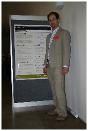 Me with EXQuery Poster @ XMLPrague